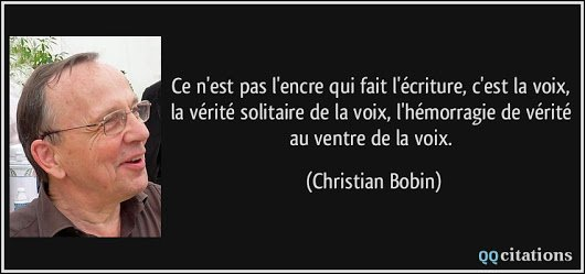 Encre christian bobin