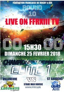 rugby 13 dimanche 25