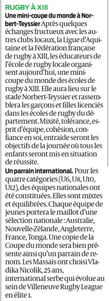 rugby à 13 coupe du monde