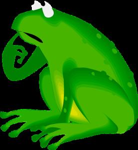 grenouille pensée