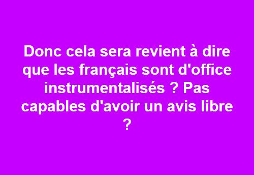 instrumentalisés